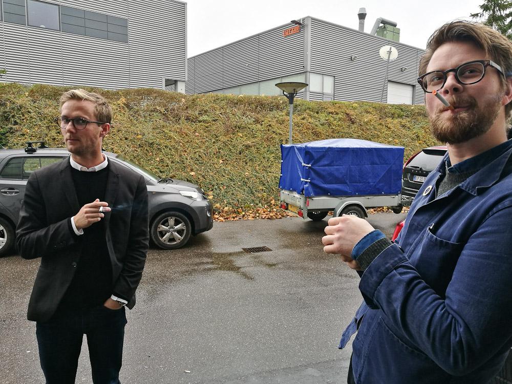 Anders insisterede på, at vise Mikkel sin nye trailer - med dækken!