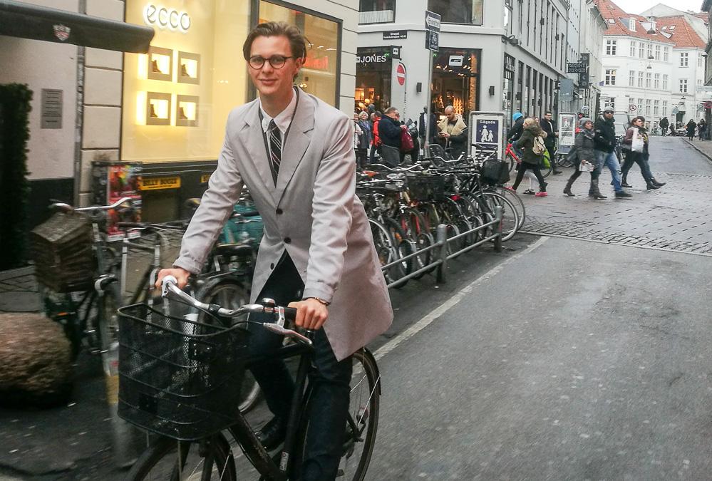 Jeppe Bentzen på cykel