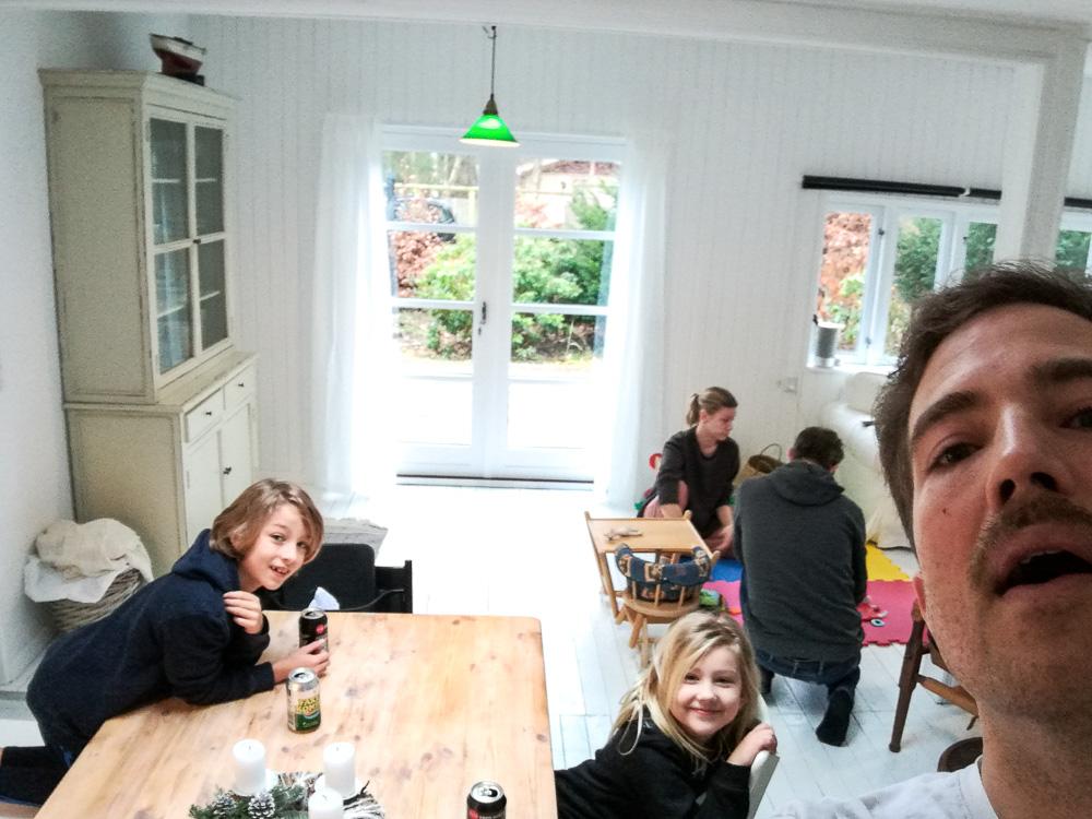 Vi fik besøg af kusine Louise og Jesper - med tre søde børn