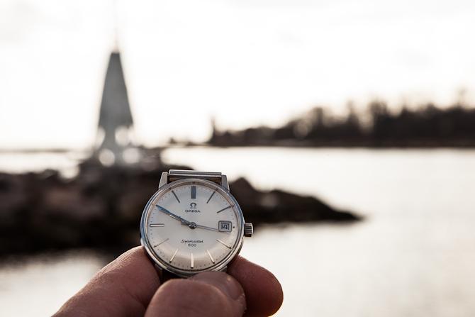 Klokken er ti minutter i Bornholm