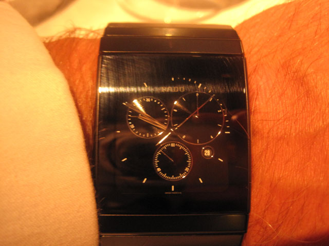 Rado a la ægte tæpper. Not my kind of watch.