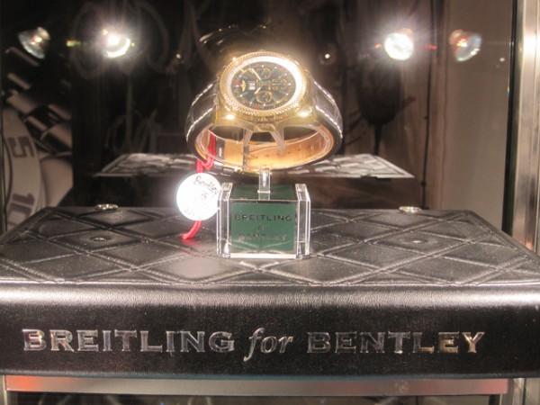 Breitling for Bentley - tæt på fem centimeter i diameter. Jeg kan dog ikke vurdere, om det er forkert at købe denne model, hvis man ikke kører Bentley.