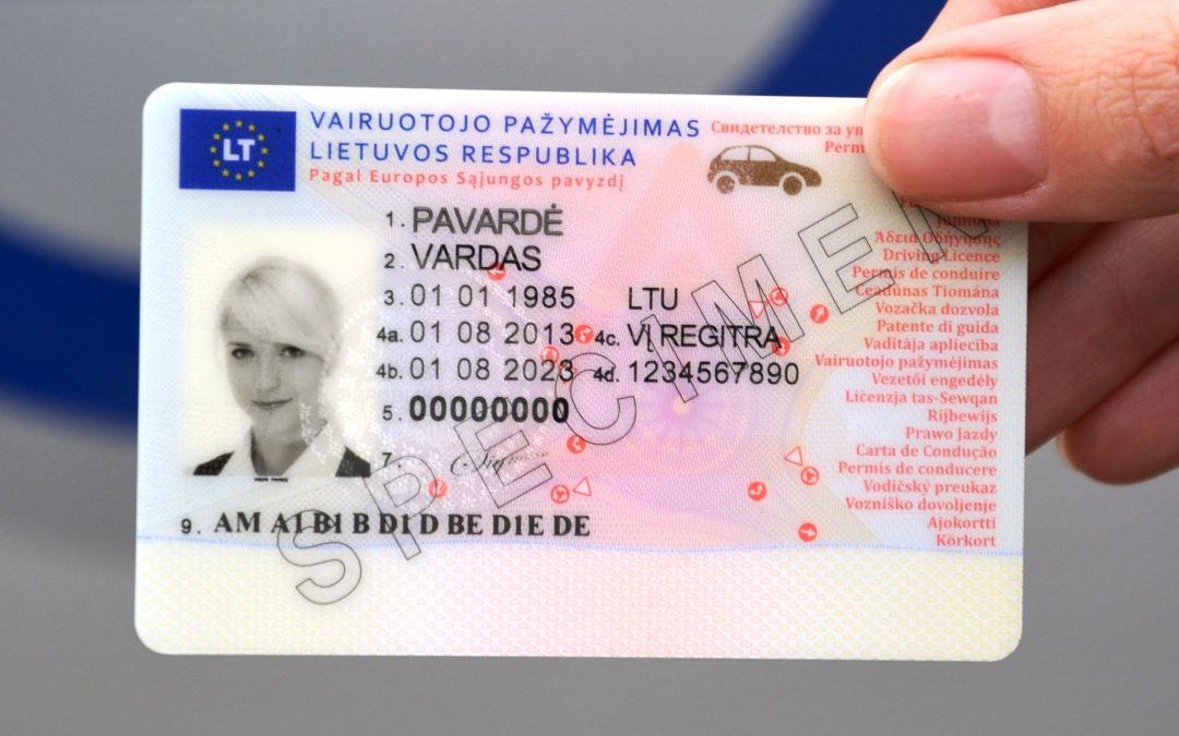 Vairuotojo pažymėjimo keitimas Danijoje