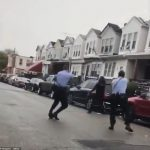 Moment black man, 27, armed with a knife was shot FOURTEEN times by two Philadelphia cops responding to a domestic – sparking night of BLM riots and looting