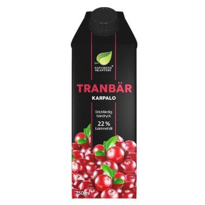 tranbärsjuice utan tillsatt socker