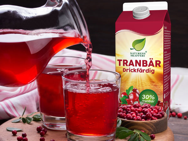 Fullproppad med goda tranbär