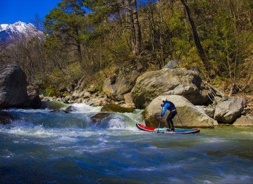 Stand up Paddling im Wildwasser