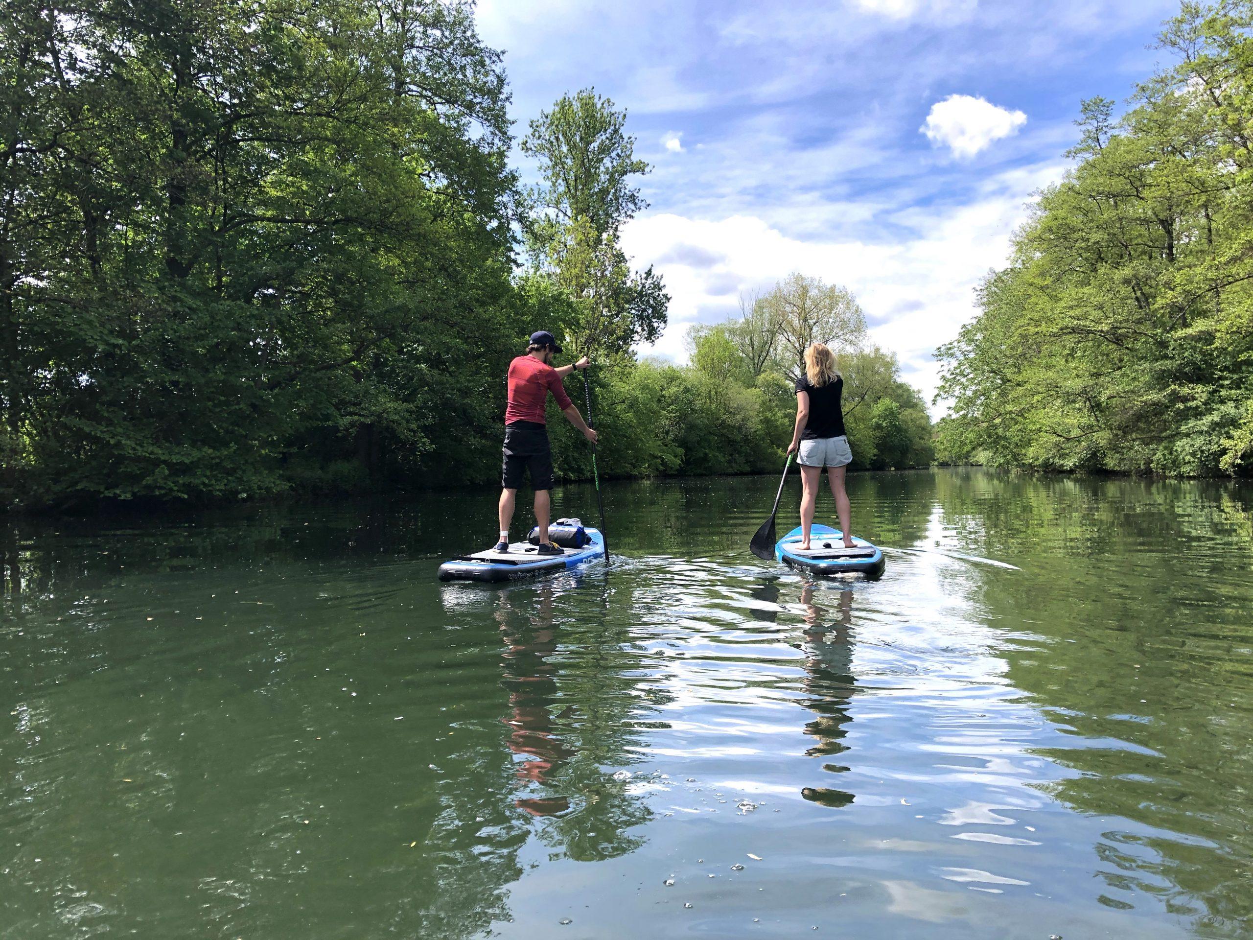 Stand up Paddling auf dem Neckar