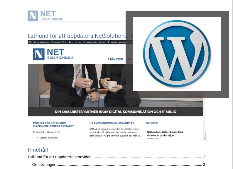 Kundanpassad WordPressutbildning