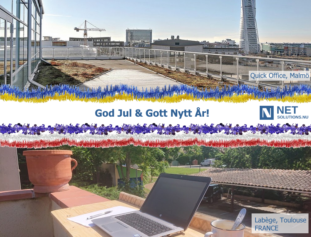NetSolutions.nu önskar God Jul & Gott Nytt År