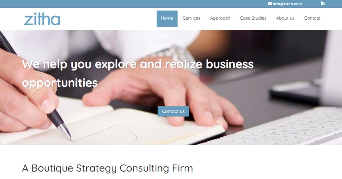 Zitha Consulting får ny sajt
