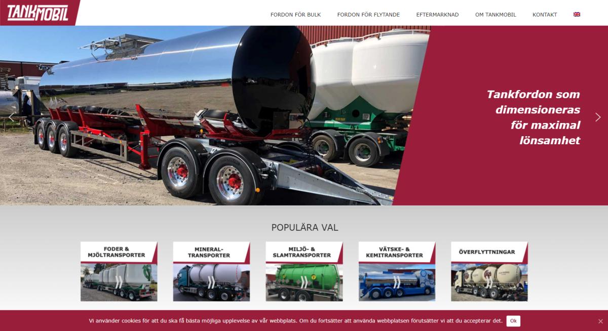 Ny sajt åt Tankmobil