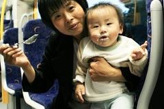 een toevallige ontmoeting met een jonge Chinese familie
