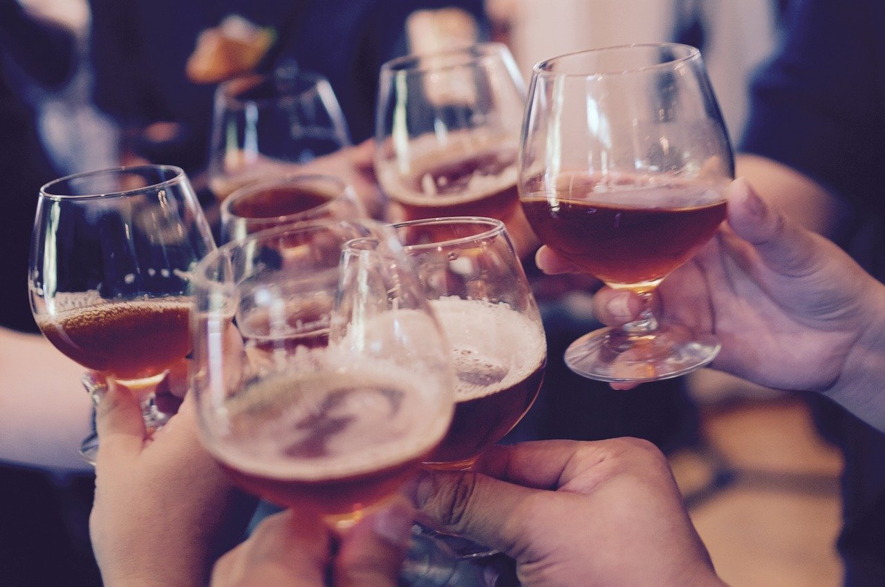 glasses, toasting, cheers