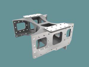 CAD Boiler support and inside slide bar bracket