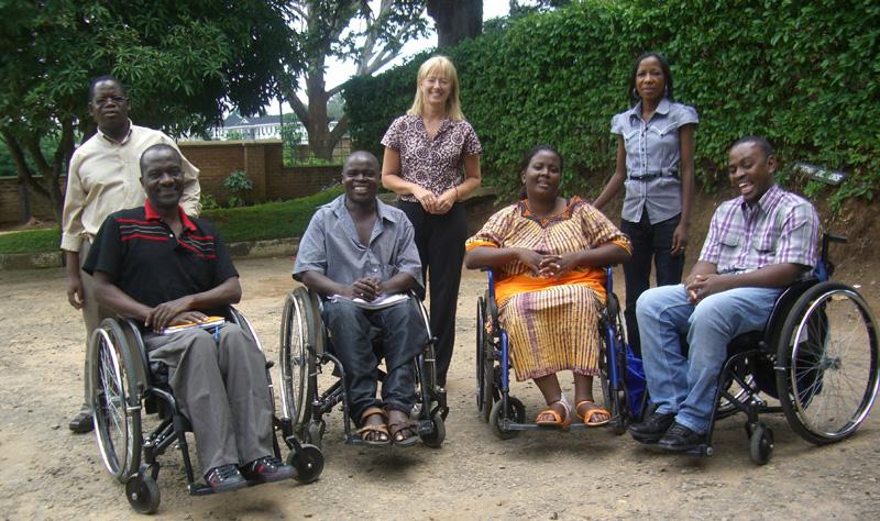 fire intervjuobjektene sammen med organisatorene av kurset i Blantyre, Malawi.
