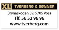 Annonse XL Bygg Tverber og sønner VOSS