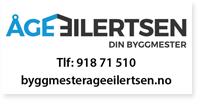 Annonse Byggmester Åge Eilertsen