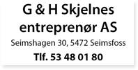 Annonse GH Skjelnes Entreprenør