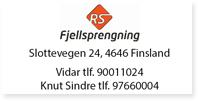 Annonse Agder RS Fjellsprengning