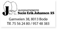 Annonse Anleggsgartnermester Svein Erik Johansen
