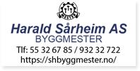 Annonse Byggmester Harald Saarheim Shh