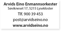 Annonse Arvid Eino Enmannsorkester