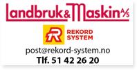 Annonse Landbruk og Maskin Rekordsystem