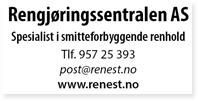 Annonse Rengjøringssentralen Renest