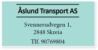 Annonser Åslund Transport As