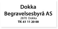 Annonser Dokka Begravelesbyrå
