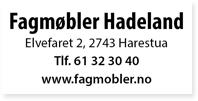 Annonser Fagmøbler Hadeland