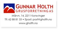 Annonser Gunnar Holth Grusforretning