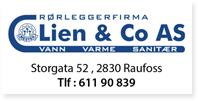 Annonser Lien Co Rørleggerfirma