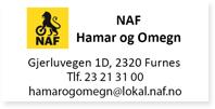 Annonser NAF Hamar og Omegn