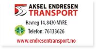 Annonse Aksel Endresen Transport
