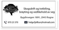 Annonse Helge Fjelltun SKogsdrift