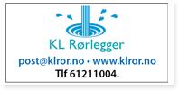 Annonse KL Rørlegger Klror
