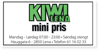 Annonse Kiwi Lena