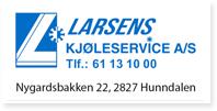 Annonse Larsens Kjøleservice