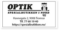Annonse Optik Spesialbutikken Nord