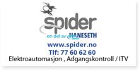 Annonse Spider Haneseth