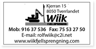 Annonse Wiik Fjellsprengning