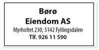 Annonser Børø Eiendom