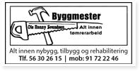 Annonser Byggmester Ole Svendsen