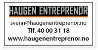 Annonser Haugen Entreprenør