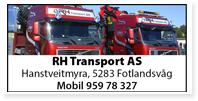 Annonser RH TransportRune Hanstvedt