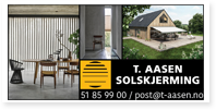 Annonser T Aasen Solskjerming