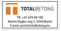 Annonser Totalbetong