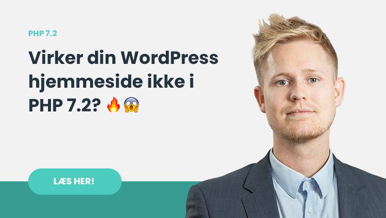 Virker din WordPress hjemmeside hos One.com eller Unoeuro ikke i PHP 7.2?